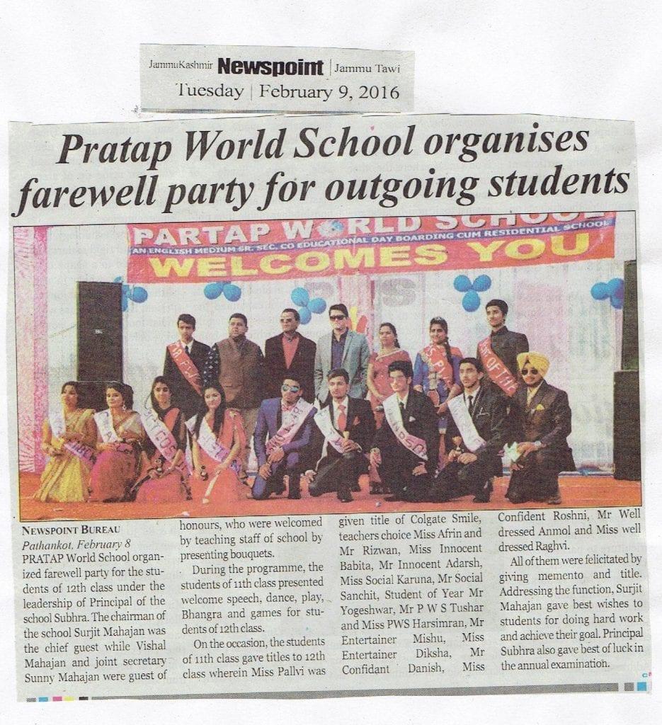 PWS in News - Partap World School